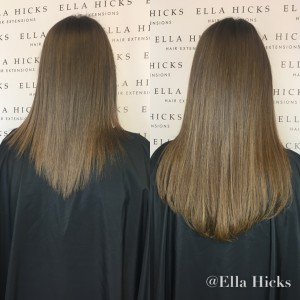 "16"" mixed brown tones to create this very natural head of hair extensions"