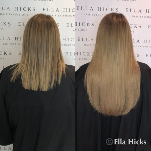 "18"" full head of warm blonde tones to create this stunning head of hair extensions"