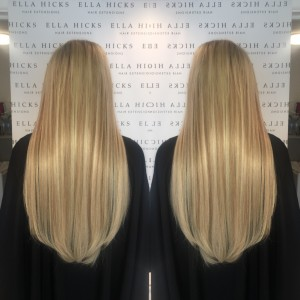 "22"" extra thick mixed blonde hair extensions"
