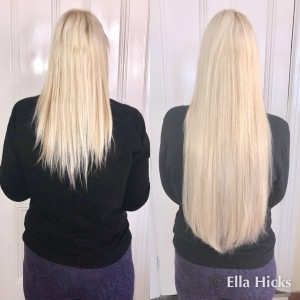 "26"" custom order of vanilla blonde hair extensions"