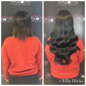 22' Easilocks Black hair extensions