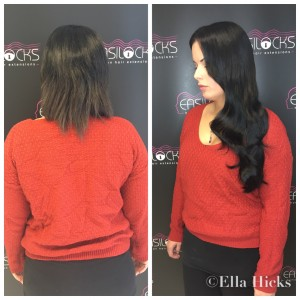 22' Black Easilocks Hair extensions
