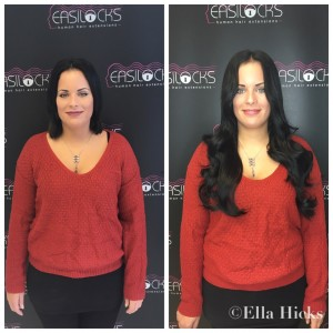"22"" Black Easilocks hair extensions"
