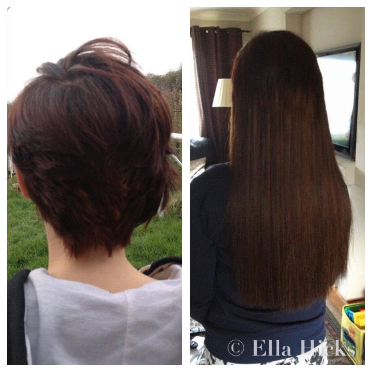 Ella hicks hair extensions portfolio short to long hair extensions pmusecretfo Image collections